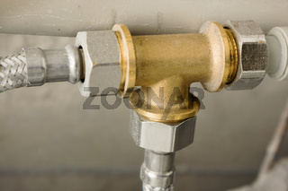 Brass part in water supply system