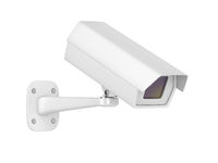 Security camera on white