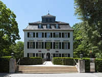 the little holzhausen palace in the north of frankfurt am main germany