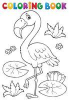Coloring book flamingo theme 2