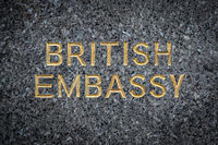 British Embassy Sign