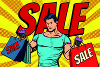man with bags on sale