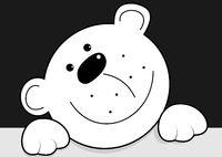 Funny white bear