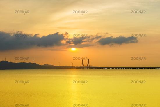 poyang lake second bridge landscape