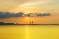 poyang lake second bridge landscape