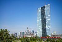 ECB and skyline of Frankfurt