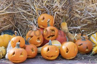 Halloween mit Kürbissen