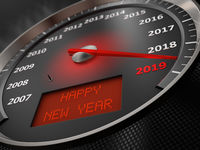 speedometer Happy New Year