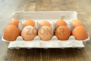 Eight free range chicken eggs