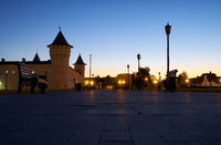 The evening view of the Red square. Tobolsk. Russia