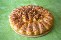 Traditional croatian Pogaca cake bread view