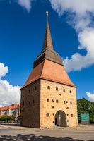 Blick auf das Steintor in Rostock