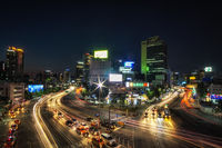busy intersection in seoul