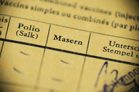 Masern is German for measels - international certificate of vaccination