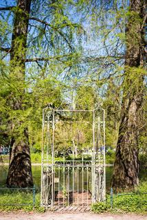Access door to the public garden lake