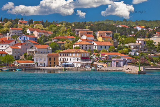 Village of Silo on Krk island waterfront view