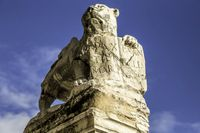 Lion Statue in Murano island in the Venetian lagoon