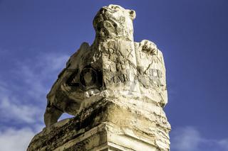 Lion Statue in Murano island in the Venetian lagoon