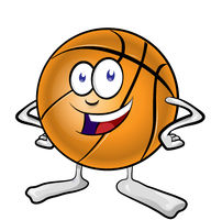 fun basketball mascot cartoon. vector illustration