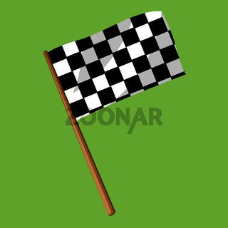 Flag vector color illustration.