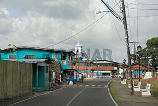 main street in Portobelo village region colon panama
