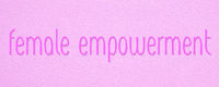 female or women empowerment pink banner