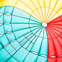 Parachute canopy close-up