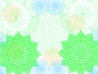 symmetrische Mandala als Grafik 3D-Rendering