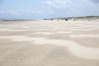 Deserted sandy beach near Cadzand