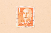 SPAIN - CIRCA 1970: A stamp printed in Spain shows the President, circa 1970