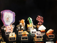 Different species of stones and Quartz, Gargoti Museum, Sinner, Maharashtra, India.