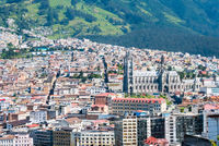 panoramic view of the Basilica of Quito from above