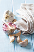 The fresh garlic.