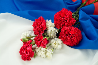 Carnation And Flag