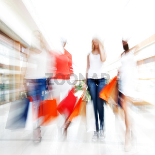 Fast shopping abstract background