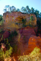 ochre rocks in roussillon, france