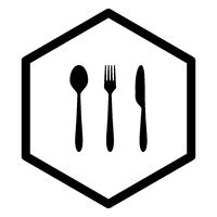 Besteck und Wabe - Cutlery and comb