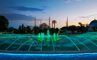 Blue Mosque at evening in Istanbul