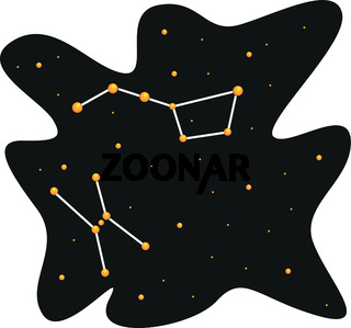 Simple design of sky and star consellation vector illustration on white background
