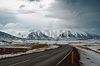 On the road to Dalvik, Iceland