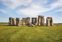 Stonehenge an ancient prehistoric stone monument near Salisbury, UK, UNESCO World Heritage Site.