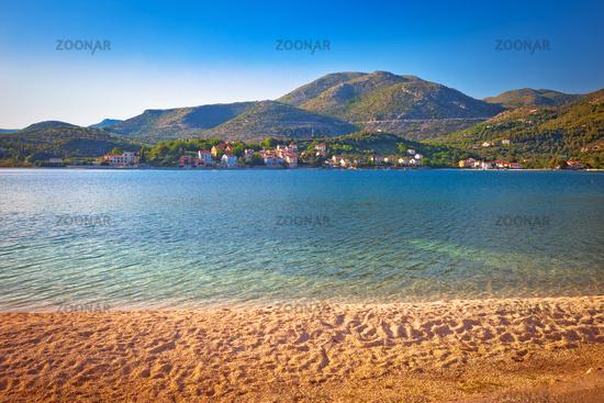 Idyllic beach and landscape in Slano