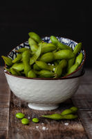 Fresh green soy beans
