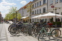 Summer morning view of streets in Fredericia city, Denmark. City was founded in 1650 by Frederick II