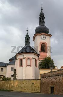 church in Manetin, Czech republic
