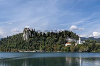 Bleder See mit Burg und Kirche von Bled