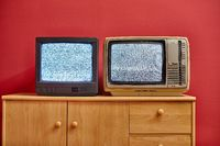 Two old TV sets
