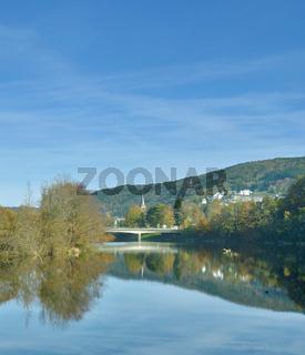 Einruhr an der Rurtalsperre im Eifel Nationalpark,Nordrhein-westfalen,Deutschland