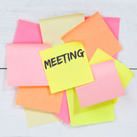 Meeting appointment business team concept desk note paper