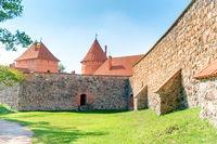 Trakai castle with brick walls